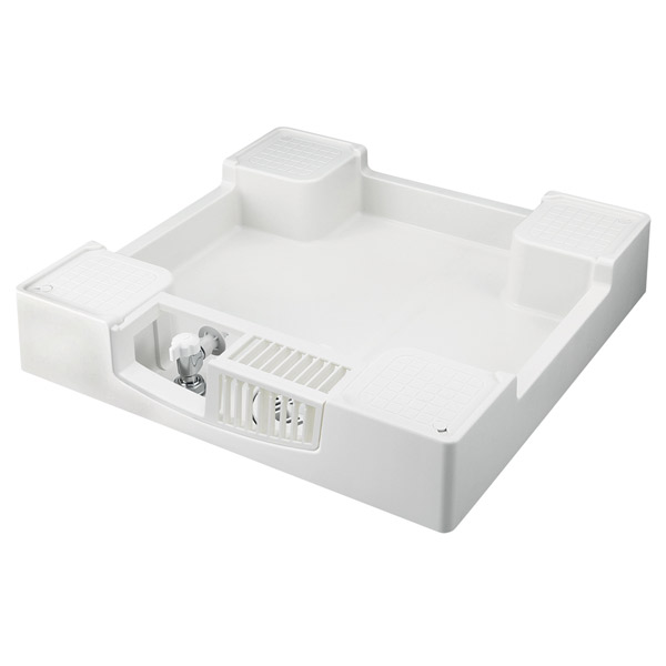 テクノテック:給水栓付防水パン フォーセットパン 専用ガード1枚付 ニューホワイト TPF640-CW2-G1