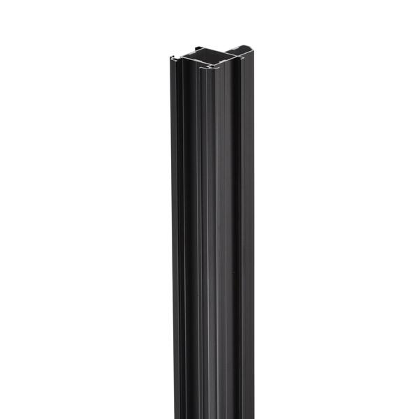 岡田装飾金物:間仕切サイドポール 押えバータイプ ブラック 90S40-BL