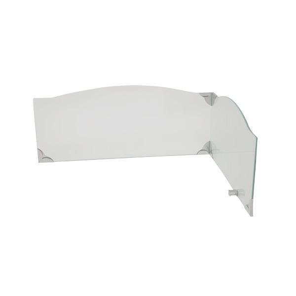 池永鉄工:レンジガード クリア IR-800CL 強化ガラス 安全 L字型 飛散防止 コンロカバー おしゃれ