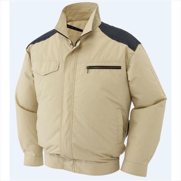 サンエス:THE空調風神服 肩パッド付長袖ブルゾンフルセット(バッテリー・ファンセット付)サンドベージュLL