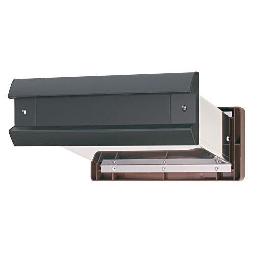 水上:No.2000ポスト 内フタ気密型 大壁用(壁厚調整範囲141~190mm) 黒