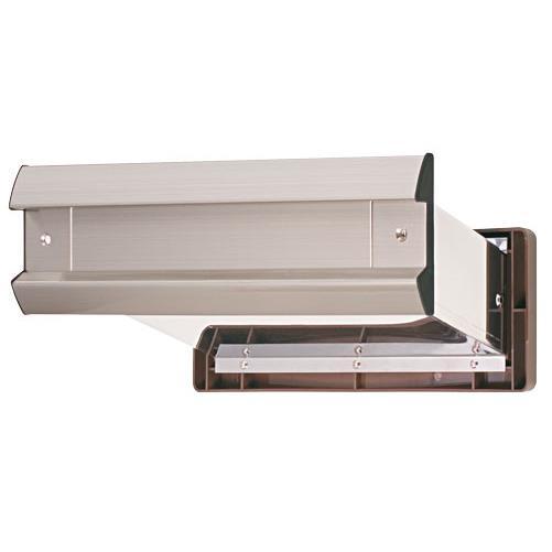 水上:No.2000ポスト 内フタ気密型 大壁用(壁厚調整範囲141~190mm) ヘアーライン