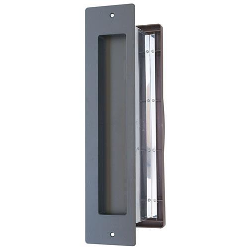 水上:No.3000ポスト 内フタ気密型 タテ型 真壁用(壁厚調整範囲95~140mm) 黒