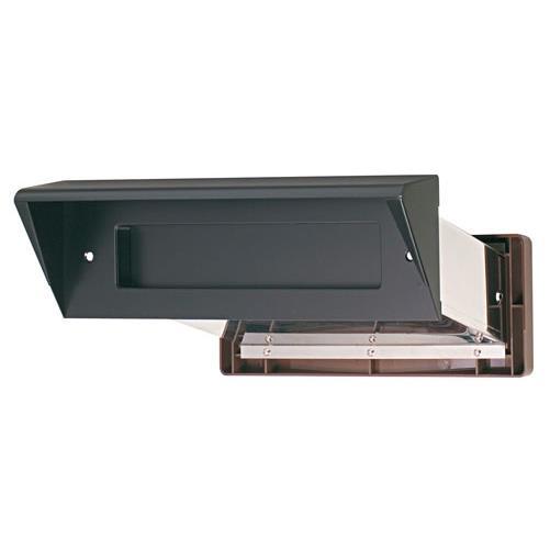水上:ステンレスシュート No.24 内フタ気密型 大壁用(壁厚調整範囲141~190mm) 黒