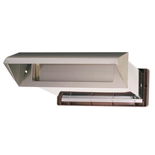 水上:ステンレスシュート No.30 内フタ気密型 真壁用(壁厚調整範囲95~140mm) クリアー