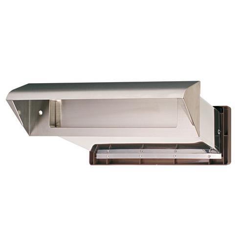 水上:ステンレスシュート No.30 内フタ気密型 厚壁用(壁厚調整範囲191~290mm) ヘアーライン