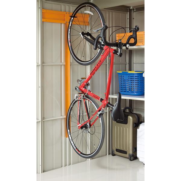 田窪工業所:タクボ物置 オプション 自転車収納ラック 21用 1台収納用 TY-CRW21