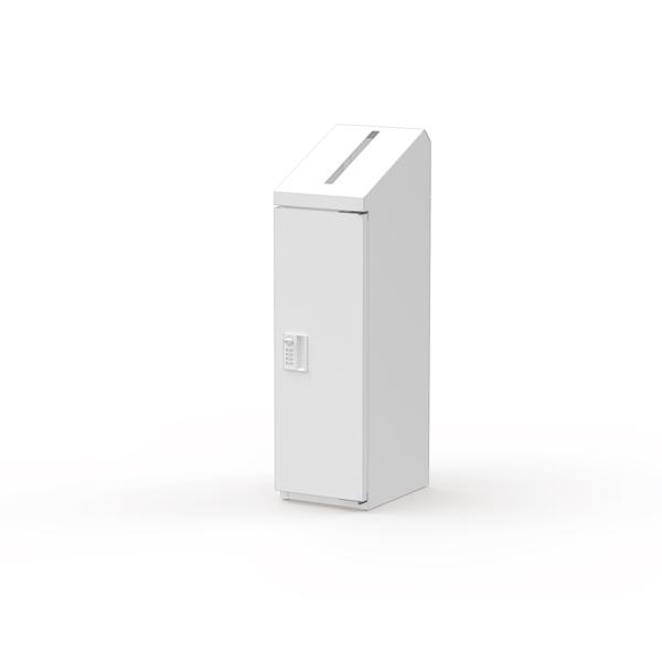 ぶんぶく:機密書類回収ボックス スリム ダイヤル錠仕様 ネオホワイト KIM-S-10D