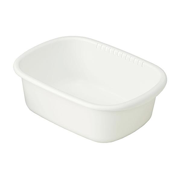 岩崎工業:洗い桶小判型 ホワイト K-1649AW