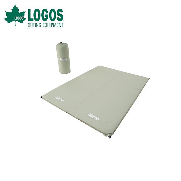 ロゴス(LOGOS):(高密弾力)55セルフインフレートマット DUO 超厚 マットレス キャンプ 防災 災害 テント ダブルサイズ 2人 72884180