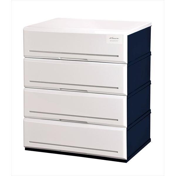 伸和:アルモアール 収納ボックス4段 620 ホワイト A620-4 W