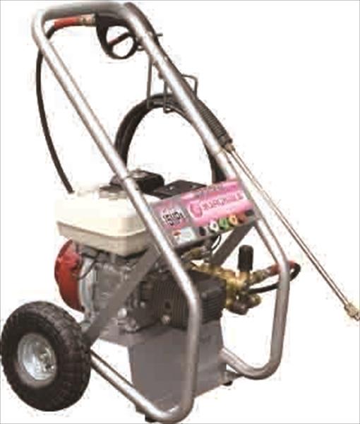 最高圧力約1.5MPa、スローダウン機能付きで経済的 4947345006068 マルナカ:エンジン式高圧洗浄機 PMR150HSD
