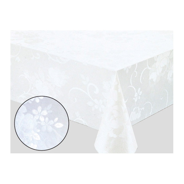 140 x 250cm Rectangle Wipe Clean PVC Tablecloth Green Game