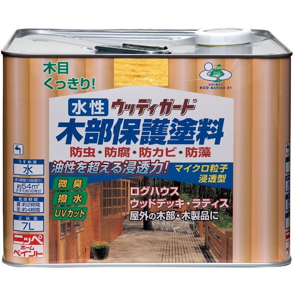 ニッペホームプロダクツ:水性ウッディガード メープル 7L