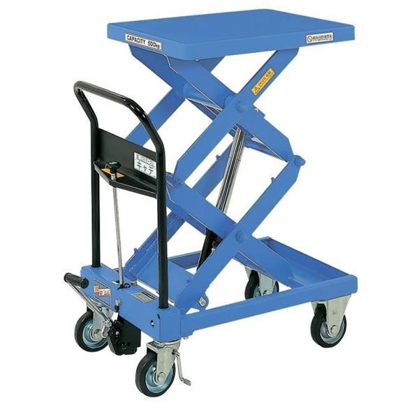 【代引不可】をくだ屋技研:リフトテーブルキャデ 500kg仕様 LT-WH500-10