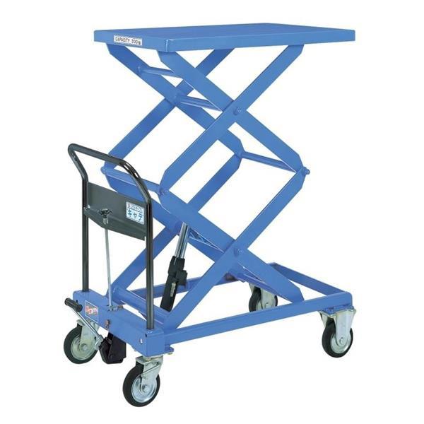 【代引不可】をくだ屋技研:リフトテーブルキャデ 高揚程タイプ 300kg仕様 LT-WH300-15-A