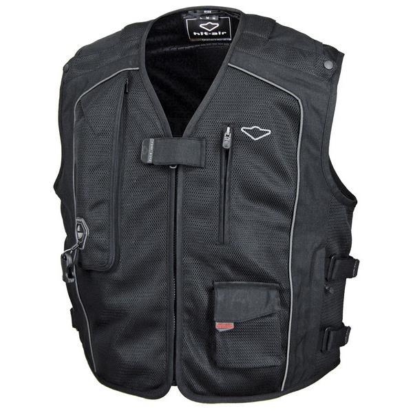 【後払い不可】【代引不可】HIT AIR(ヒットエアー):エアーバッグ メッシュベスト Vest MC5 ブラック 2XLサイズ 4560216417154