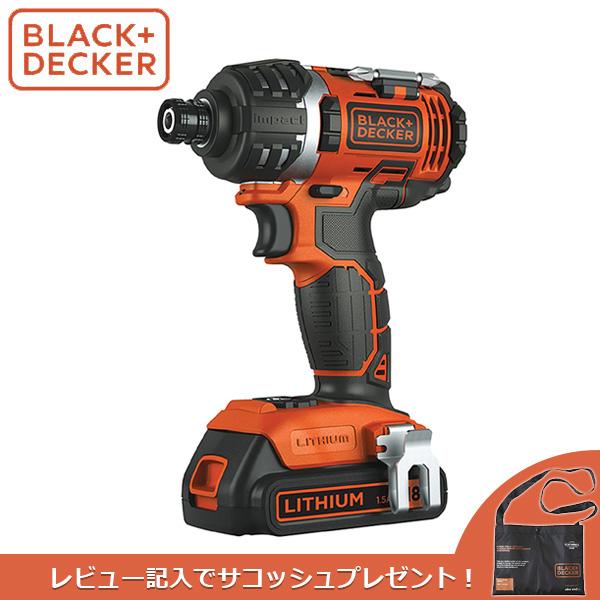 あす楽 BLACK+DECKER(ブラックアンドデッカー):18v コードレスインパクトドライバー EXI18-JP BLACK&DECKER ブラデカ DIY&家遊び