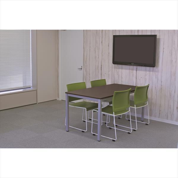 【法人限定】アール・エフ・ヤマカワ:(SET)BONUMミーティングセット 4人用 ダーク×グリーン RFMT-1575D-BONUM-GREEN