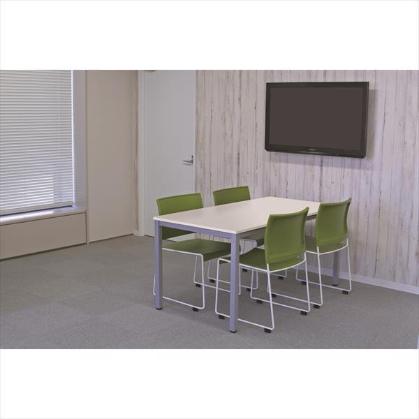 【代引不可】アール・エフ・ヤマカワ:(SET)BONUMミーティングセット 4人用 ホワイト×グリーン RFMT-1575W-BONUM-GREEN