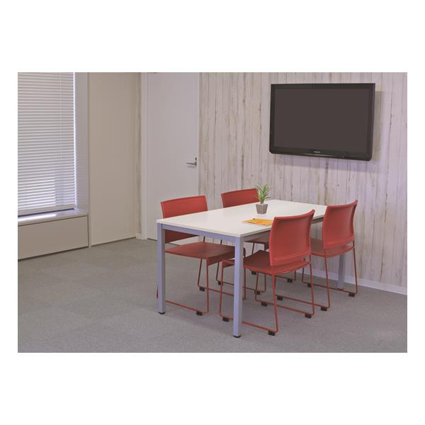 【代引不可】アール・エフ・ヤマカワ:(SET)BONUMミーティングセット 4人用 ホワイト×レッド RFMT-1575W-BONUM-RED