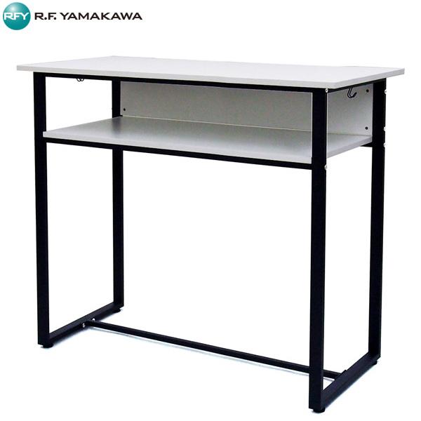 【法人限定】アール・エフ・ヤマカワ:ハイデスク W1200×D600 ホワイト RFHD-1260WH