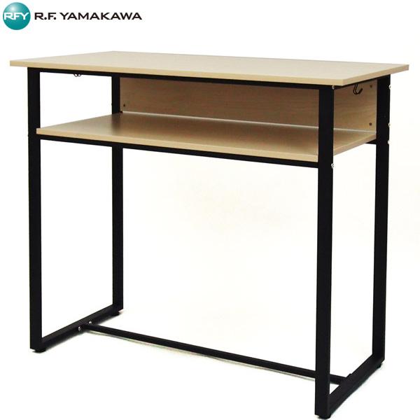 【法人限定】アール・エフ・ヤマカワ:ハイデスク W1200×D600 ナチュラル RFHD-1260NA
