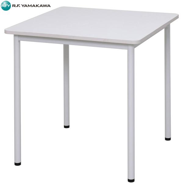 【代引不可】アール・エフ・ヤマカワ:RFシンプルテーブル W700×D700 ホワイト RFSPT-7070WH