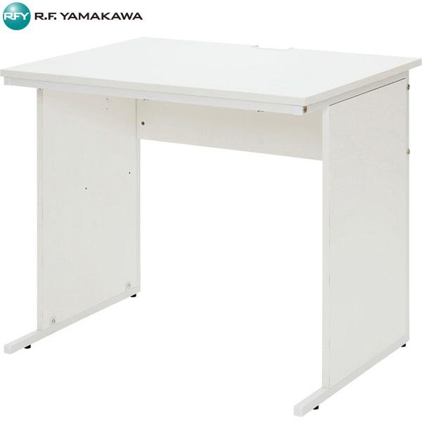 【代引不可】アール・エフ・ヤマカワ:ワークデスク W800×D600 ホワイト Z-LWD-0860WHK