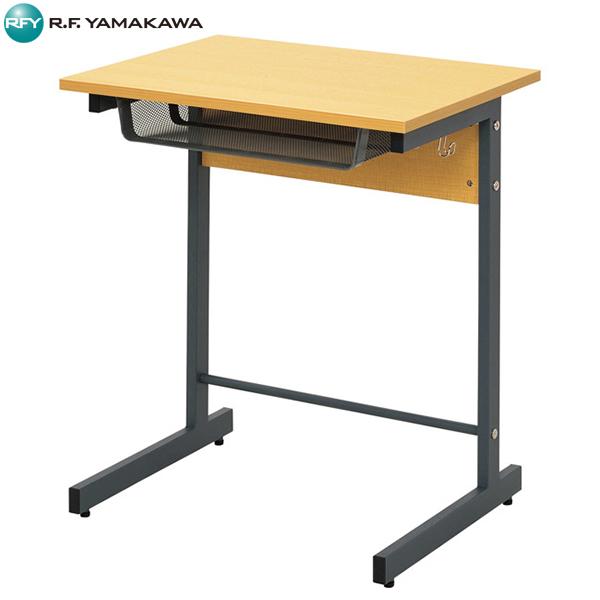【法人限定】アール・エフ・ヤマカワ:スモール研修用デスクII W600×D450 L字脚 ナチュラル RFJD2-6045NL