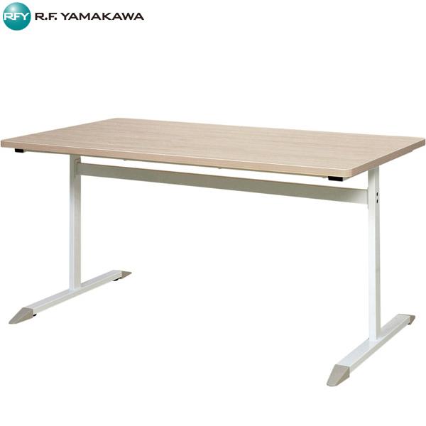 【代引不可】アール・エフ・ヤマカワ:T字脚テーブル W1400×D800 ナチュラル RFCTB-1480NA