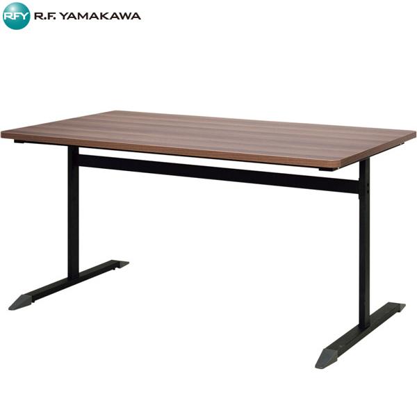 【法人限定】アール・エフ・ヤマカワ:T字脚テーブル W1400×D800 ダーク RFCTB-1480DB