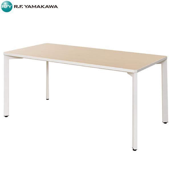 【代引不可】アール・エフ・ヤマカワ:TEO ミーティングテーブル W1500×D750 ナチュラル×ホワイト RFMT-IL1575NW