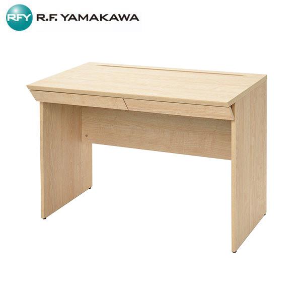 【法人限定】アール・エフ・ヤマカワ:RF木製デスク W1000 引出付き ナチュラル RFWD-1060NAD つくえ 家具 会社