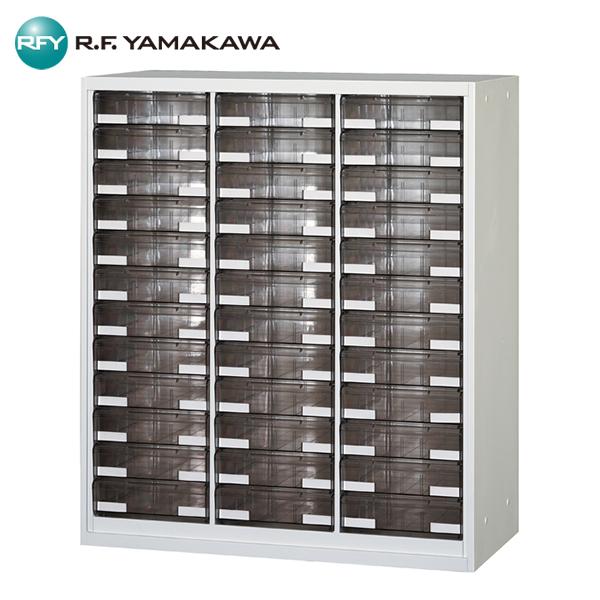 【法人限定】アール・エフ・ヤマカワ:引出キャビネット B4判3列深型12段 UAR-W1132B オフィス家具 事務所