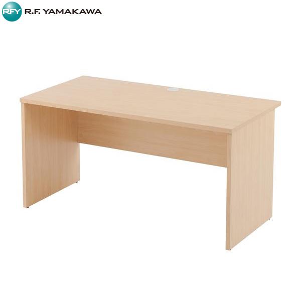 【法人限定】アール・エフ・ヤマカワ:レーニョ 木製デスクiii W1400xD700 ナチュラル RFLD-1470NJ3