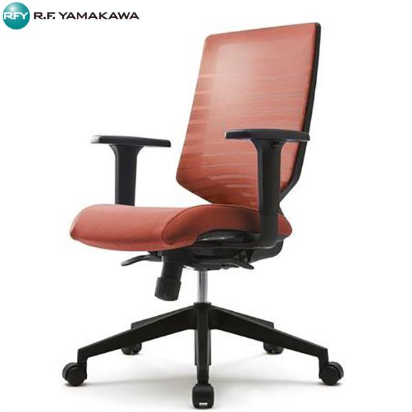 【法人限定】アール・エフ・ヤマカワ:T30チェア 可動肘 オレンジ FHTN302RF014