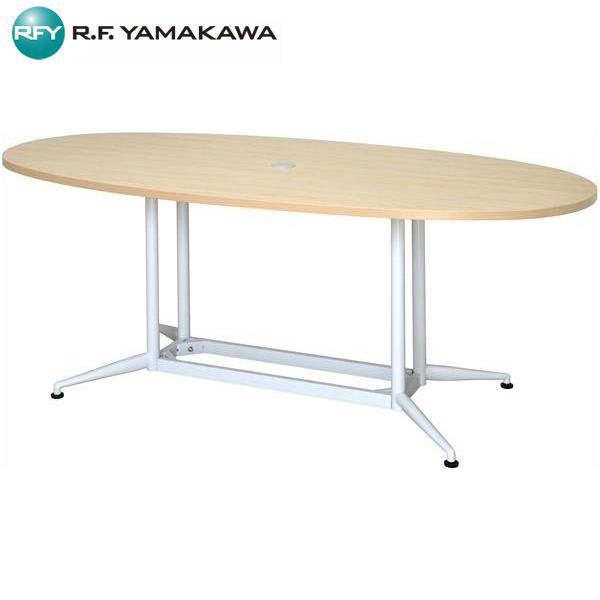 【代引不可】アール・エフ・ヤマカワ:OAオーバルテーブル W1800×D900 ナチュラル RFOVT-OA1890NA