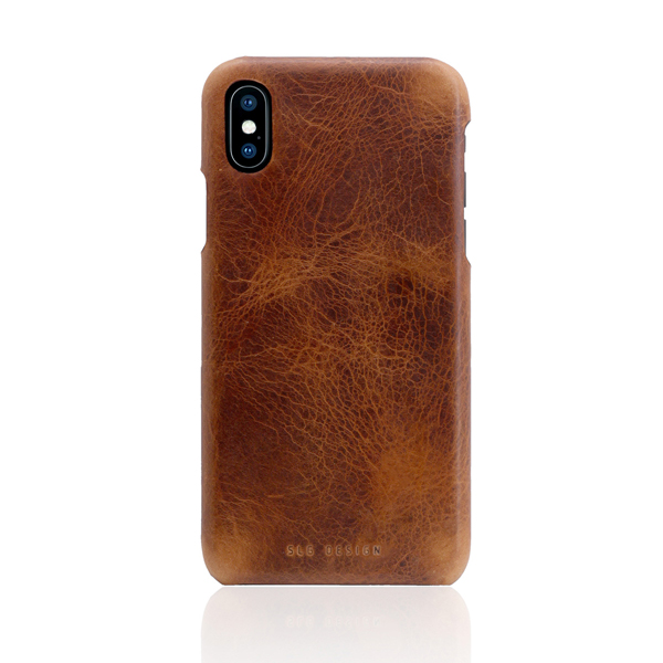 SLG Design(エスエルジーデザイン):iPhone X Badalassi Wax Bar case ブラウン
