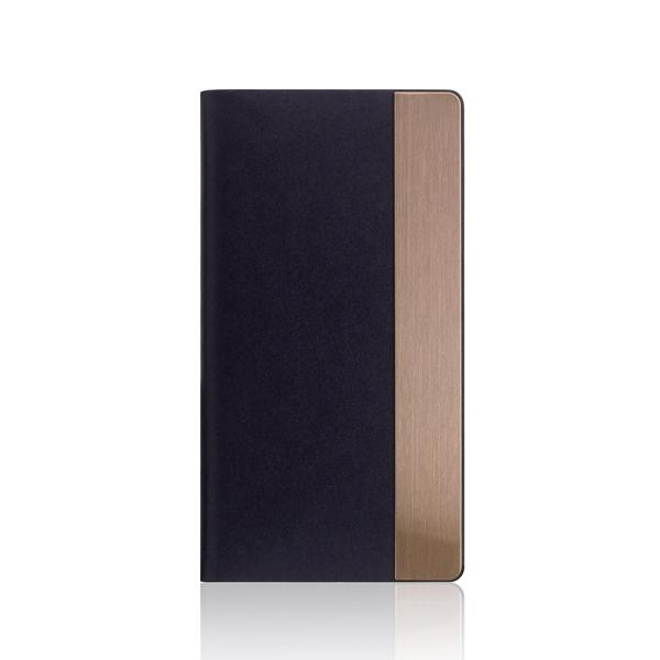 SLG Design(エスエルジーデザイン):iPhone X Calf Skin Metal Case ネイビー