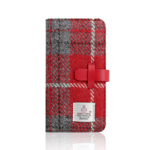 SLG Design(エスエルジーデザイン):iPhone X Harris Tweed Diary レッド×グレー