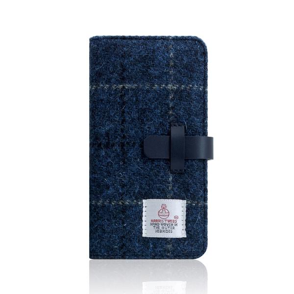 SLG Design(エスエルジーデザイン):iPhone X Harris Tweed Diary ネイビー