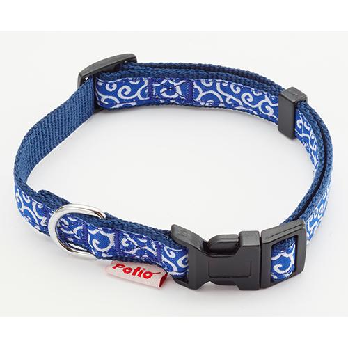 ペティオ:犬雅 唐草カラー SS ブルー W57403