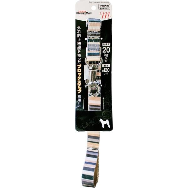 ドギーマンハヤシ:ハンサムストライプリード 20mm ブラウン MD2611