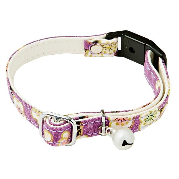ペティオ:アドメイト にゃんごころ 猫首輪 うめ 紫 A55024