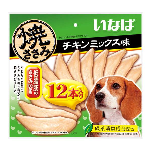いなばペットフード:焼ささみ チキンミックス味(12本入) QDS-37