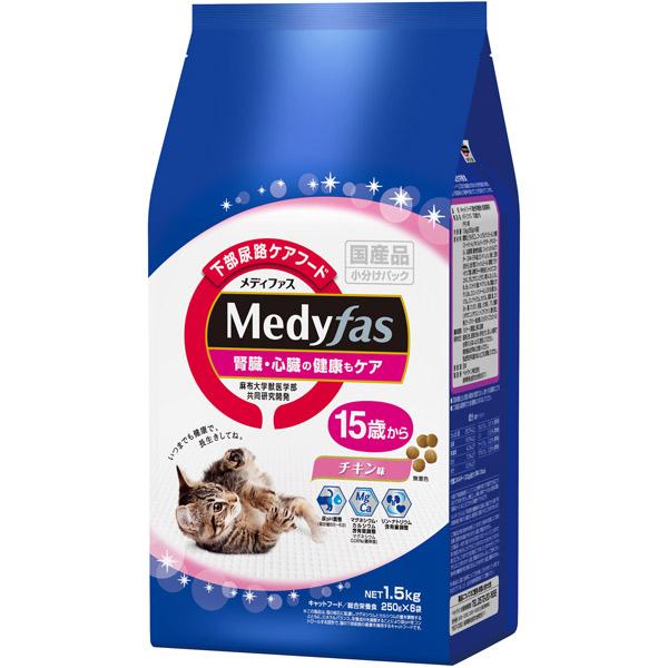 ペットライン:メディファス 15歳から チキン味 1.5kg(250g×6)