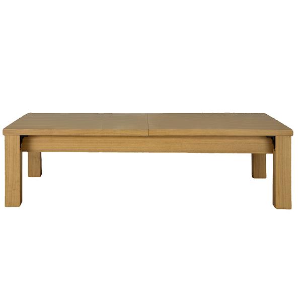 【代引不可】サンハーベスト:伸縮折れ脚式リビングテーブル ライトブラウン 幅145/175/205cm JJ-2145LBR
