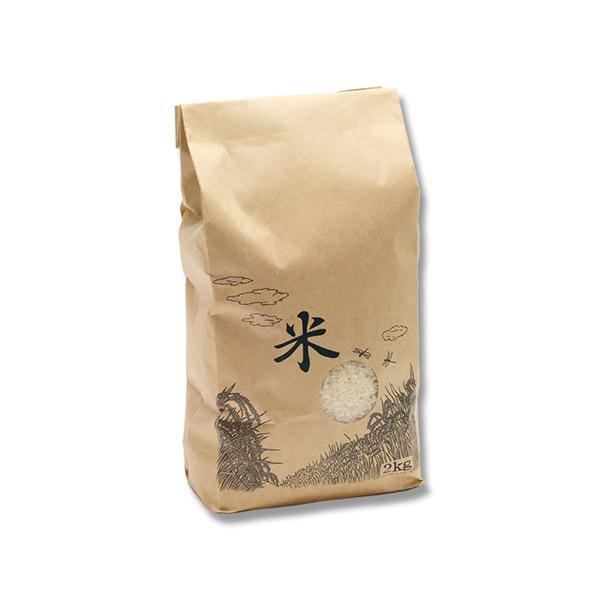 シモジマ:米袋 1Kg 米テープ 窓付 200枚 004193042