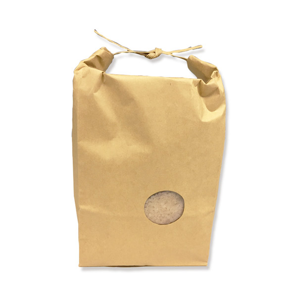 シモジマ:米袋 2Kg テープ 窓付 200枚 004193030